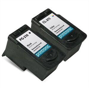 2-Pack-Canon-PG-210-CL-211-Ink-Cartridge-PIXMA-iP2702-MP270-MP495-MX340-MX420
