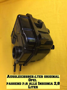 NEU-ORG-Opel-Insignia-2-8-OPC-Ausgleichsbehaelter-mit-Sensor-Turbo-4x4-260-325-PS