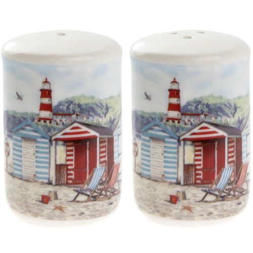 Set of 4 Placemat and Coaster set Nautical Seaside Beach Hut  NEW Gift