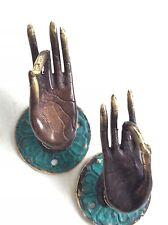 Goddess Hands Solid Bronze Door Handles Mixed Patina