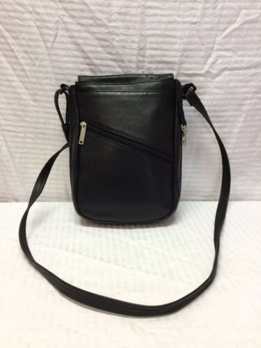 cuero Makers bolso negro bandolera bolso de Day Santa Barbara Xd0xq7