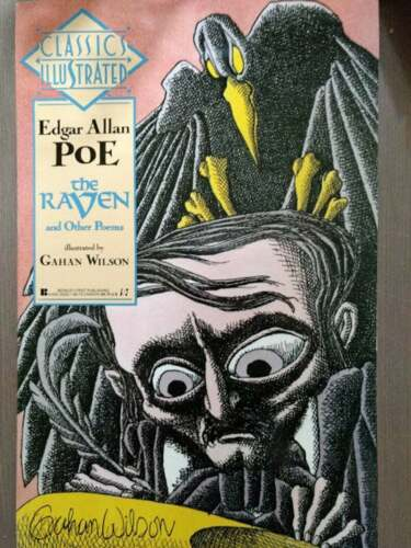 1990 Berkley Classics Illustrated Poe THE RAVEN AND OTHER POEMS Gahan Wilson