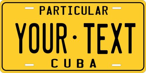 Cuba 1978 Custom Personalized Vehicle Car Auto Motorcycle Bike License Plate Tag