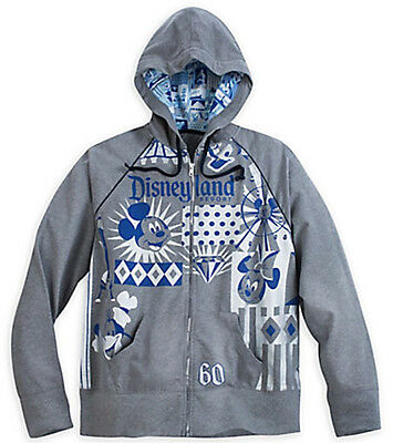 Disney Parks Disneyland Diamond Celebration Hooded Sweatshirt Jacket Womens XS   eBay