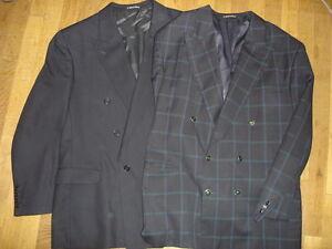 Lot-2-PACO-RABANNE-veste-costume-taille-58-FR-pure-laine-vierge