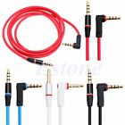 Right Angle AUX Headphone Male to Male Stereo Audio Cable For iPod MP3 CAR 3.5mm