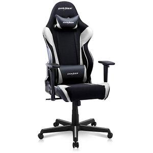 Dxracer Racing Ergonomic Home Office Desk Computer Gaming Chair Black White 810027590190 Ebay
