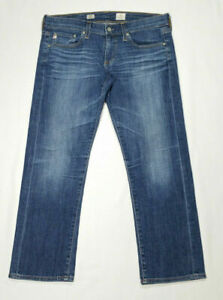 AG-Adriano-Goldschmied-Women-Size-28-Tomboy-Crop-Jeans-Relaxed-Straight-Low-Rise