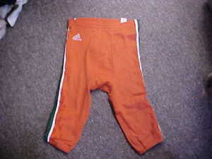 Miami-Hurricanes-Game-Worn-Used-Football-Pants-Orange-Green-White-2017-18-Size-M