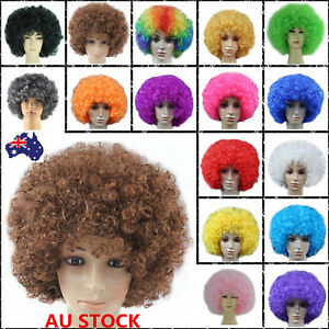 Disco-Afro-Clown-Hair-Football-Fan-Curly-Wig-Adult-Kid-Costume-Cosplay-Halloween