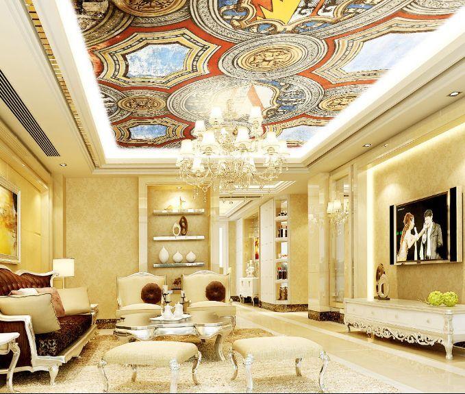 3D Retro Design 8 Ceiling WallPaper Murals Wall Print Decal Deco AJ WALLPAPER GB