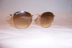7c8a064b15f937 New RAY BAN ROUND METAL Sunglasses 3447 112 51 MATTE GOLD  BROWN ...