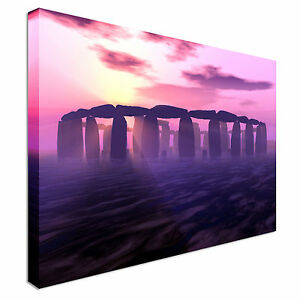 Purple Stonehenge Sunset Canvas Art Cheap Wall Print Home Interior ... 17ed1f6ee