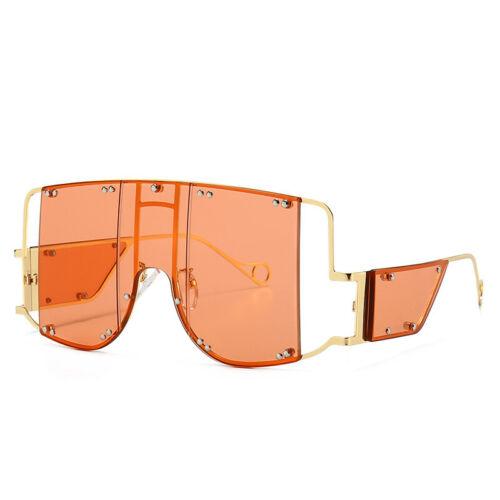 Metal Rivet Oversized Sunglasses Women Fashion Ins Outdoor Shades UV400 Eyewear