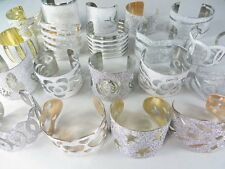 *US Seller*-wholesale lot of 20 wide bangles costume jewelry cheap bulk lot