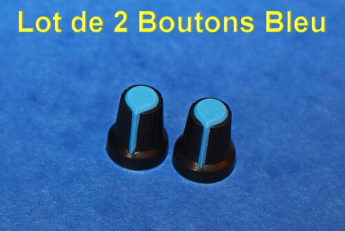 6MM *** *** LOT DE 1*2*5 OU 10 BOUTONS POTENTIOMETRES PLASTIQUE REPERE COULEUR