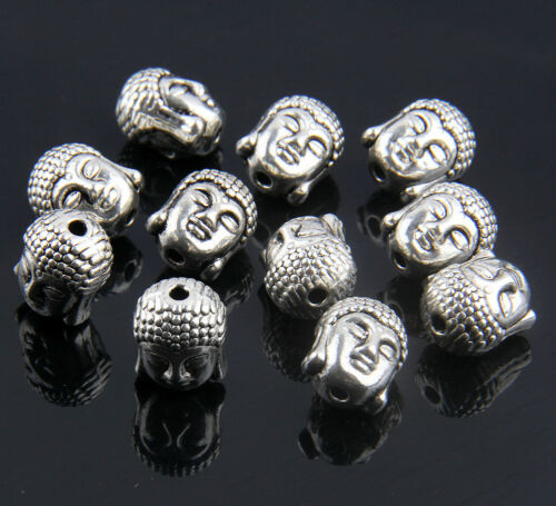 10//50Pcs Solid Metal Buddha Chamrs Spacer Loose Bead For Bracelet 11mm