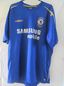 new style c4d77 903ca Details about Chelsea 2005-2006 Centenary Home Football Shirt Size Large  /34209