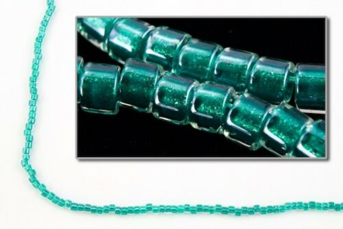 DB918-11//0 Shimmering Teal Lined Crystal Delica Beads