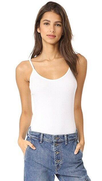 Vince damen's Weiß Ribbed Scoopneck Thong Style Cami Bodysuit XS MSRP