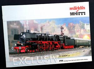 "100% Vrai Märklin Ferroviaire Prospectus ""mhi Exclusivement 2/2004"", Din A4, 8 Pages, Neuf!"