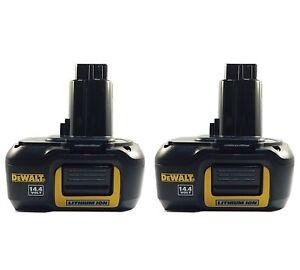 2-pack-New-DeWalt-DE9141-14-4V-1-1Ah-Lithium-Li-Ion-Battery-for-Cordless-Tools
