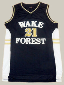 best sneakers 8fcc7 47f3a Details about Tim Duncan 21 Wake Forest Demon Deacons College Throwback  Jersey