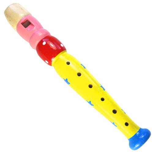 keepdrum KFL2 YW Flöte aus Holz für Kinder Gelb