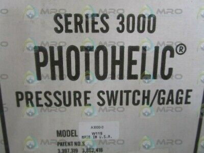 New In Box Quality First Glorious Dwyer A3000-0c Switch/gage Pressure