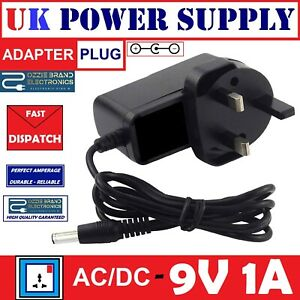 UK-9V-AC-DC-POWER-SUPPLY-ADAPTER-TO-FIT-BOSS-PSA-240-PSA240-GUITAR-EFFECTS-PEDAL