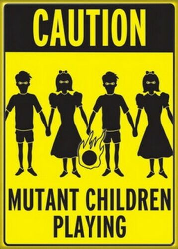 Warnung Mutant Kinder Playing Gruppe Magnet 29958H