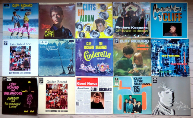 LP, Cliff Richard, 15 Sjældne LP'er, Pop, 15 Cliff Richard…