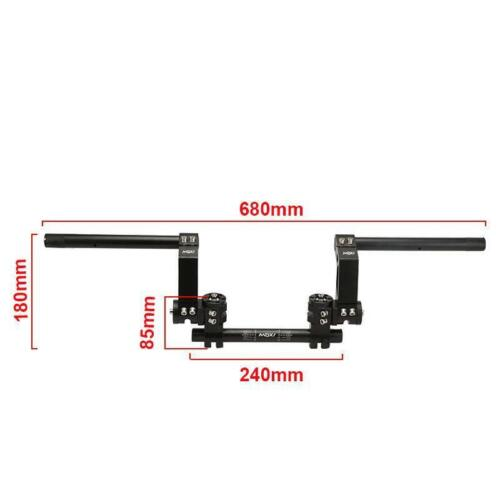 """7//8/"""" CNC Universal For Motorcycle Scooter Adjustable Steering Handle Bar System"""