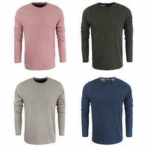 Mens-Brave-Soul-100-Cotton-Casual-Long-Sleeved-Top-Stone-Khaki-Pink-amp-Navy-S-XL