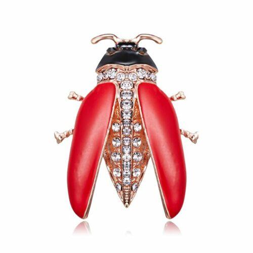 Encanto de esmalte precioso Cristal Gema insecto Broche Pin Para Mujer Joyas Regalo De Boda