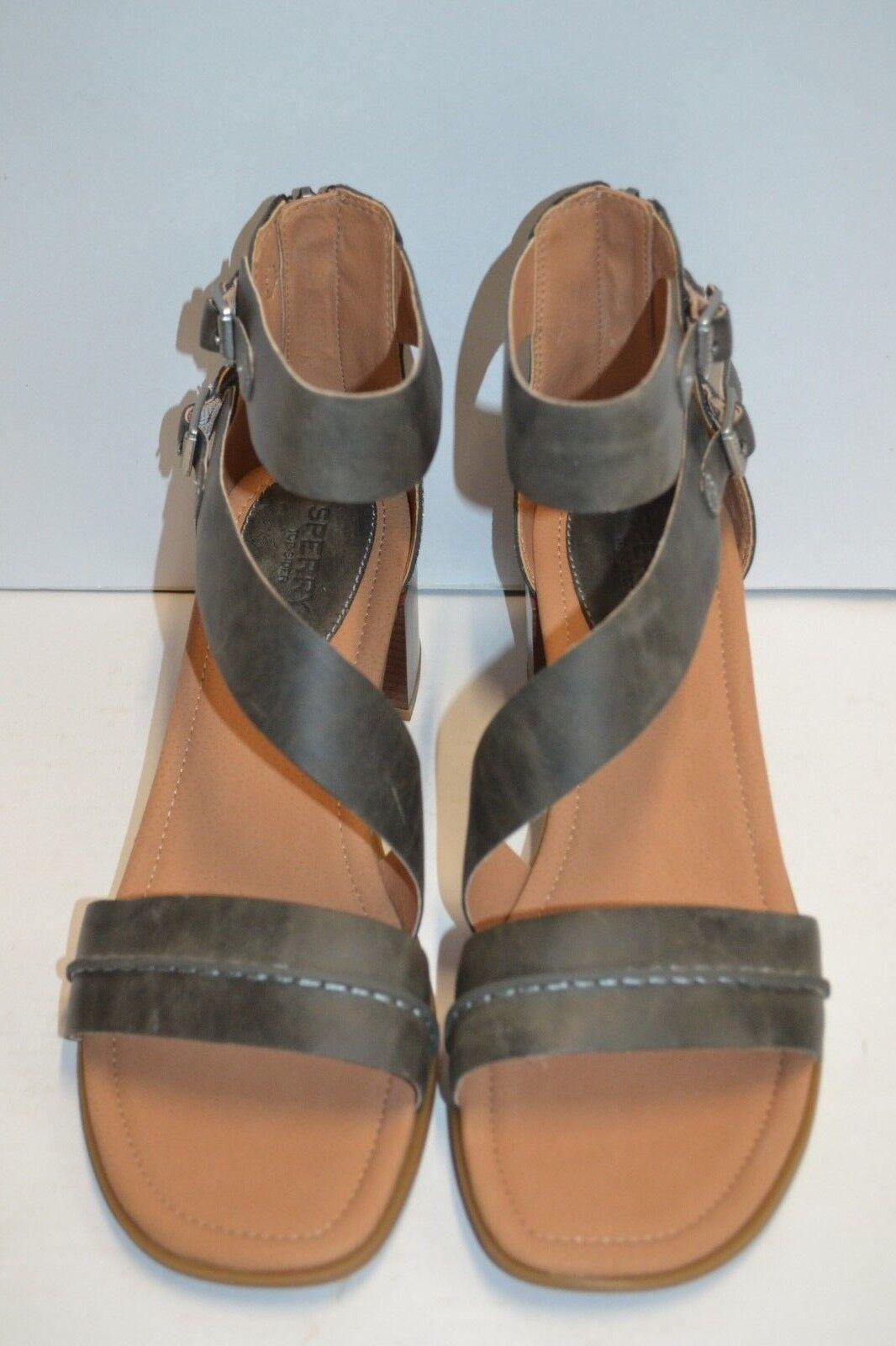 Sperry Top-Sider damen LEATHER Adelia York grau Heeled Heeled grau Sandal schuhe BUCKLE 12 M 270526