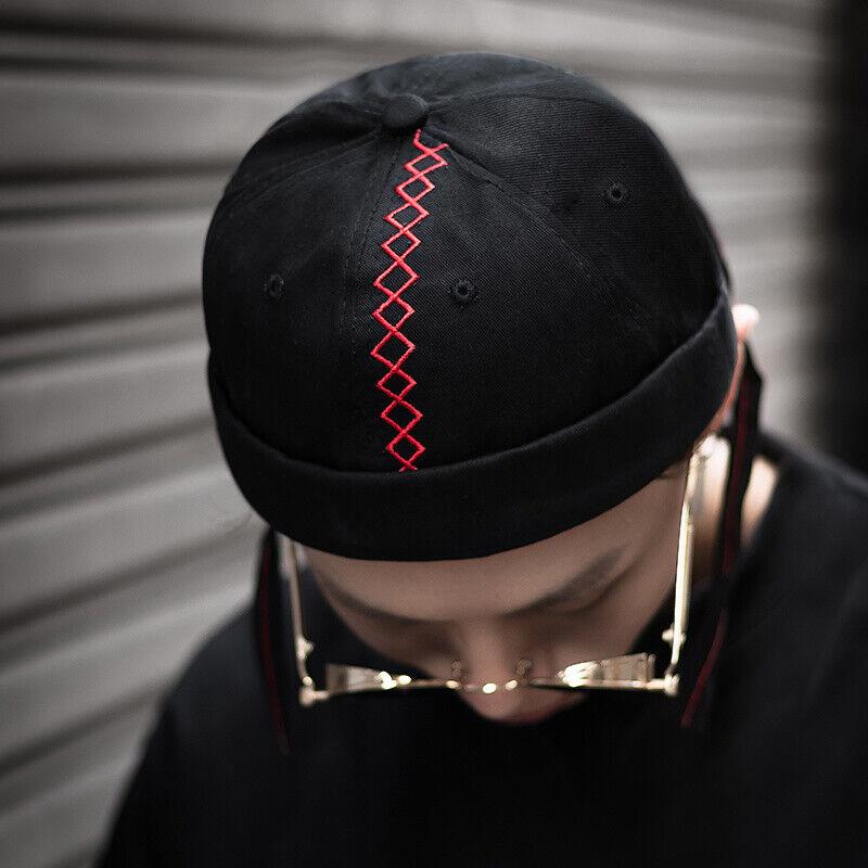 Retro Landlord Hut Street Hip Hop Unschuldig melon Kappe Atmungsaktiv Male Black