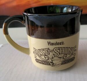 Vintage 1989 Hardee's Rise and Shine Homemade Biscuits Mug
