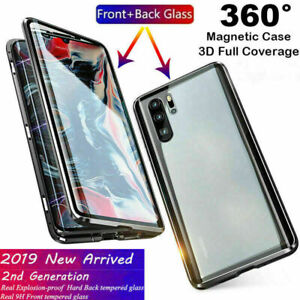 new concept 04633 48ff9 Details about For Samsung Galaxy S8 S8+ S9 S10 S10+ Magnetic Absorption  Tempered Glass Case
