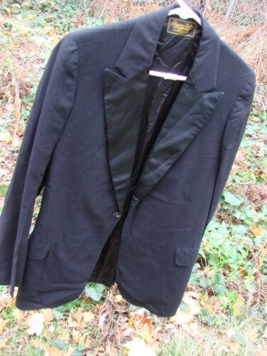 Vintage 20s Edwardian Tuxedo Jacket Wool Frock Coa