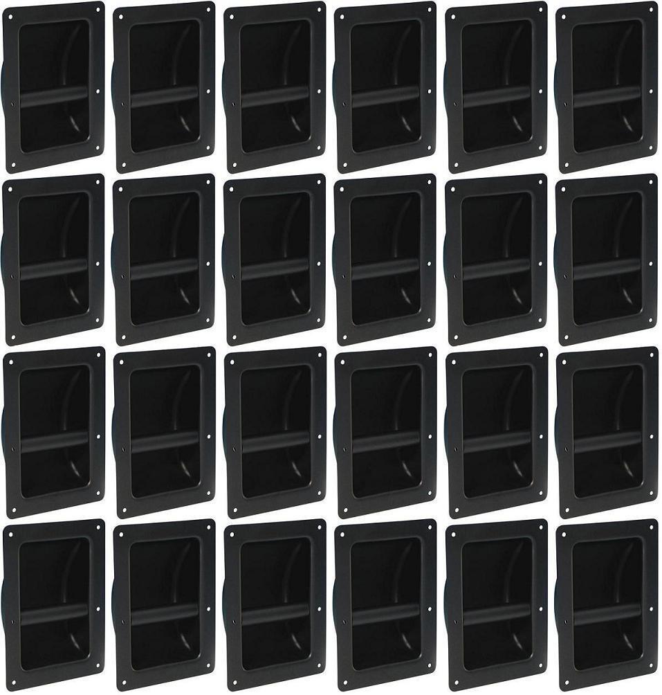 24 x Schalengriff 220x162 mm Stahl schwarz Tragegriff Boxengriff Boxengriffe NEU