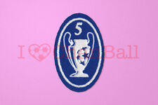 UEFA Champions League 5 Times Trophy (light blue) Sleeve Soccer Patch / Badge