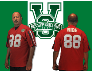 best service db024 778a3 Details about Men's Mississippi Valley State Red #88 Jerry Rice Jersey:Size  L
