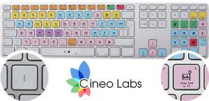 Details about Cineo - Avid Pro Tools ® keyboard stickers for MAC - Keyboard  layout – US