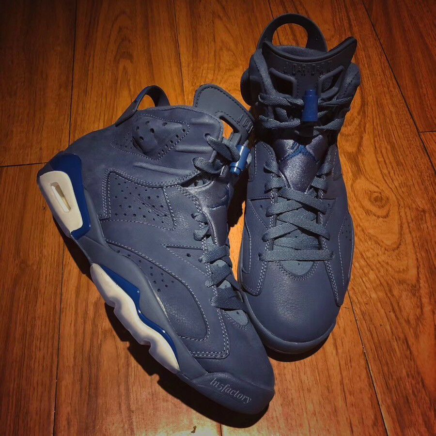 Nike Air Jordan VI 6 Premium Sneakers New, Diffused bluee 384664-400 sz 9