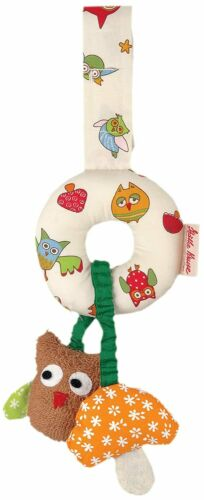 Kathe Kruse Alba The Owl Mini Mobile Pacifier Holder//Rattle NWT