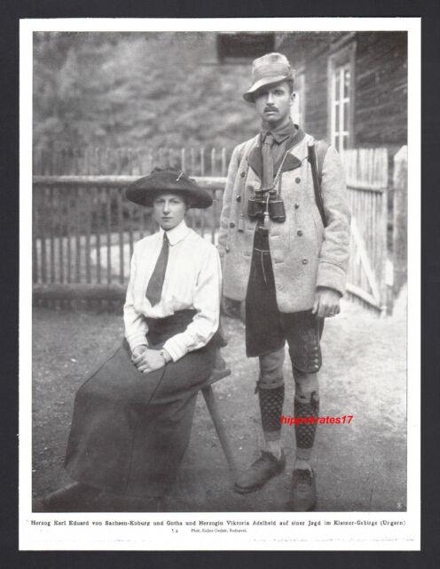 Herzog Karl Eduard von Sachsen-Coburg Gotha 1911 Herzogin Viktoria Adelheid (58)