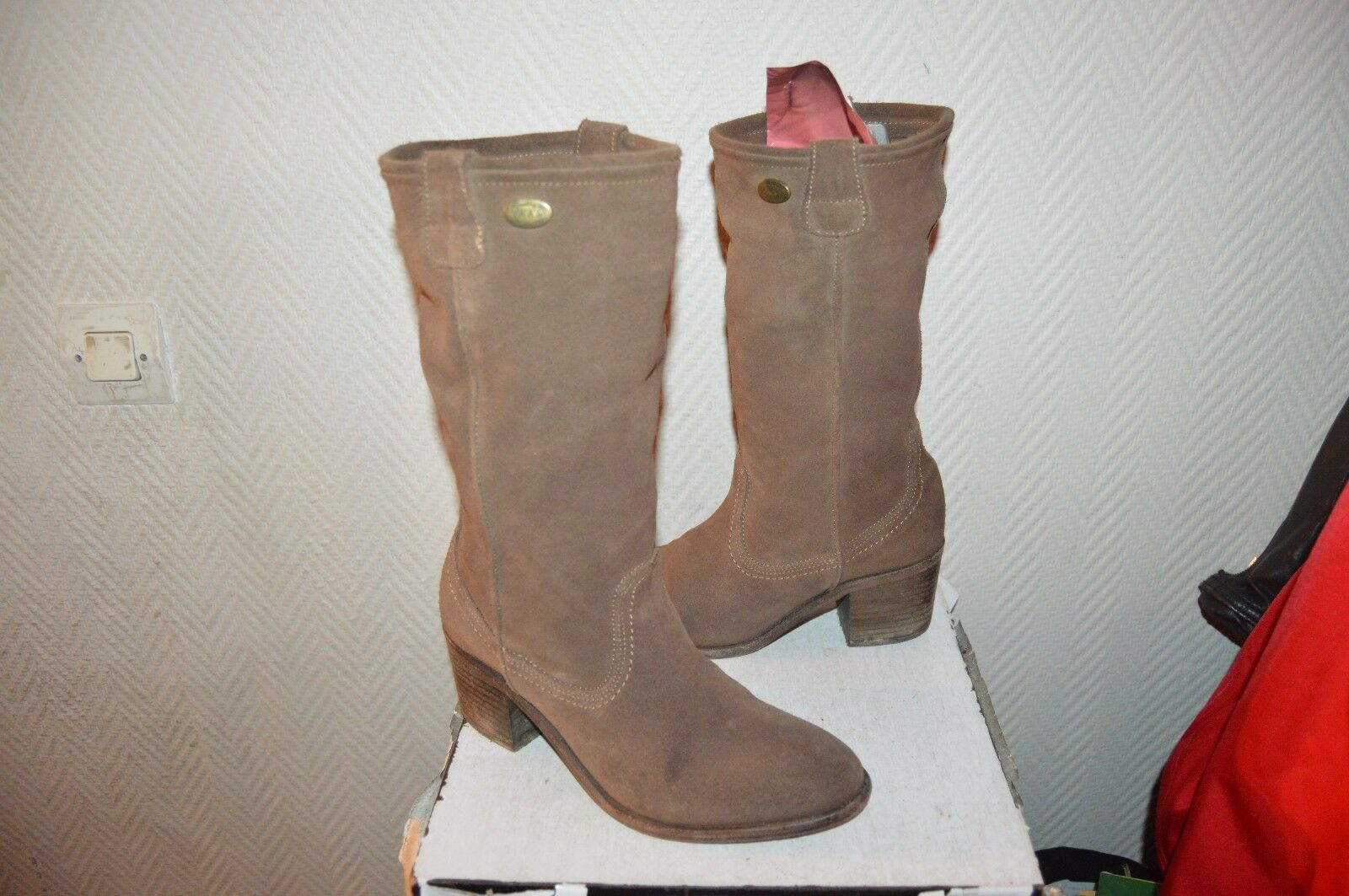 BOTTES CUIR  IKKS  TAILLE 36 LEATHER bottes bottes bottes BE