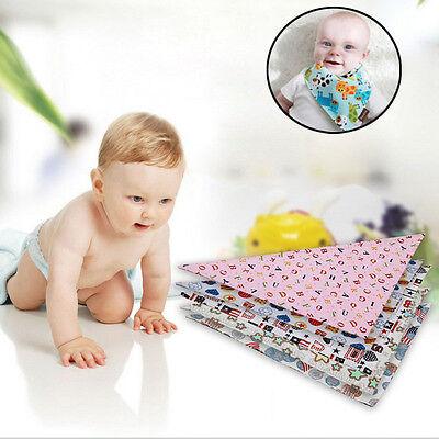 Kids New born Baby Bibs Toddler Bandana Triangle Head Scarf Saliva Towel AUGT