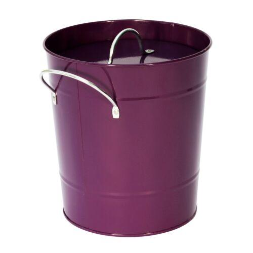 Violet Métal Compost Caddy//Compost Seau//déchets alimentaires Bin